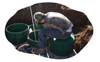 Man Working on a Septic System