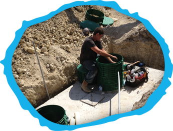 Man Repairing a Septic System