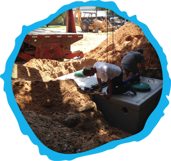 Men Working on a Septic System